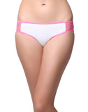 Clovia Cotton Mid Waisted Bikini With Mesh Side Wings - White, , Panty Clovia Thailand