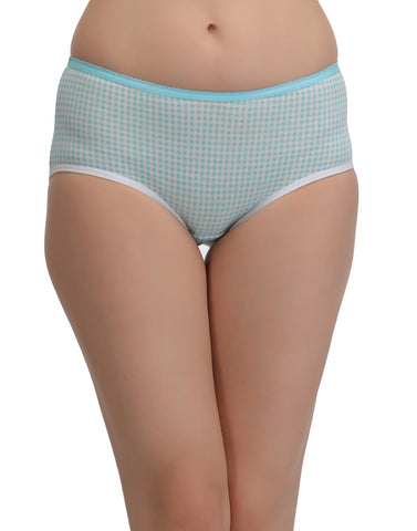 Cotton High Waist Printed Hipster - Green, , Panty Clovia Thailand