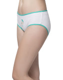 Clovia Cotton Cheeky Friday Hipster - White, S / White, Panty Clovia Thailand