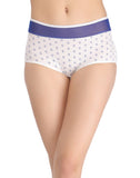 Clovia High Waist Printed Hipster With Powernet Waist - Blue, , Panty Clovia Thailand