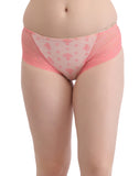 Clovia Cotton High Waist Printed Hipster With Lacy Side Wings - Orange, , Panty Clovia Thailand