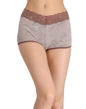 Clovia Cotton Printed High Waist Boys Shorts - Grey, , Panty Clovia Thailand