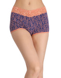 Clovia Cotton Printed High Waist Boys Shorts - Blue, , Panty Clovia Thailand