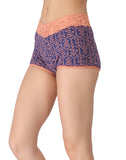 Clovia Cotton Printed High Waist Boys Shorts - Blue, S / Blue, Panty Clovia Thailand