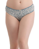 Clovia Set of 2 Cotton Mid-Waist Printed Bikini - Multicolour