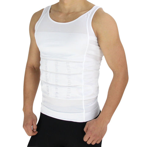 Mens Shaping Vest in White, , ShapeWear Clovia Thailand