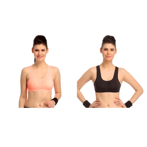 Set of two Padded Polyamide Sports Bras, , Bra Clovia Thailand
