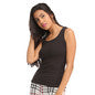 Cotton Camisole With Round Neck - Black, M / Black, Cami Clovia Thailand