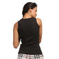 Cotton Camisole With Round Neck - Black, XL / Black, Cami Clovia Thailand