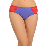 Mid Waist Bikinii With Lace Side Wings - Blue, , Panty Clovia Thailand