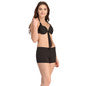 2 Pc Black Swimsuit Set With Matching Sarong, S / Black, Swim-dress Clovia Thailand
