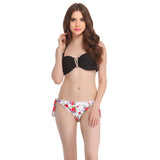 2 Piece Polyamide SwimSuit of Padded Bra & Printed Brief In Black, L / Black, Bikini Clovia Thailand