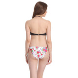 2 Piece Polyamide SwimSuit of Padded Bra & Printed Brief In Black, XS / Black, Bikini Clovia Thailand
