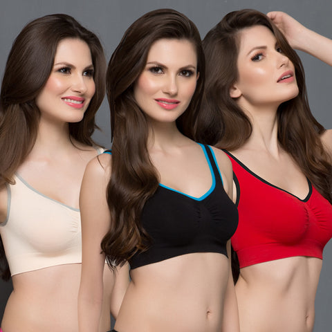 3 Pcs Set of Cotton Magic Bra, , Bra Clovia Thailand