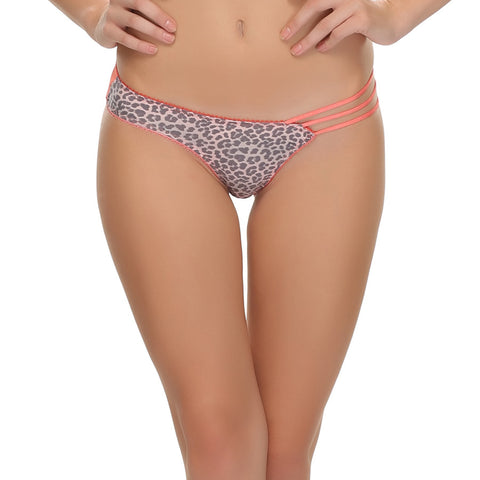 3 String Printed Panty In Peach, , Panty Clovia Thailand