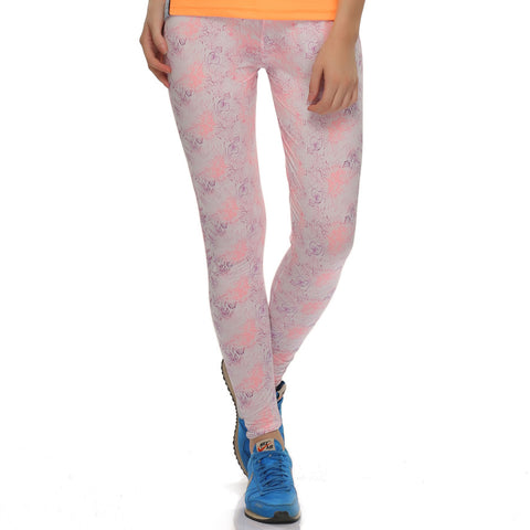 Stretchy High Rise Tights In Floral Prints, , Active Wear Clovia Thailand