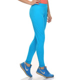Stretchy High Rise Tights With Great Control, S / Blue, Active Wear Clovia Thailand