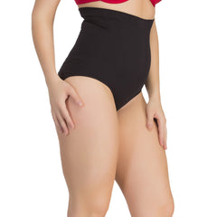 Tummy Tucker Brief In Black With Seamless Finish, 2XL / Black, ShapeWear Clovia Thailand
