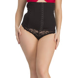 Tummy Belt In Black With Waist Cincher, 2XL / Black, ShapeWear Clovia Thailand