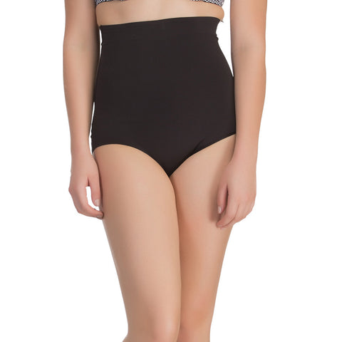 Seamless Tummy Tucker In Black With Stitch Free Belt, , ShapeWear Clovia Thailand