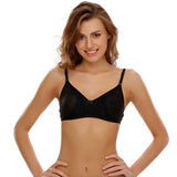 Cotton Moulded Cups Bra With Intricate Lace Design, , Bra Clovia Thailand