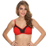 Double Layered Comfy T-Shirt Bra In Red, , Bra Clovia Thailand