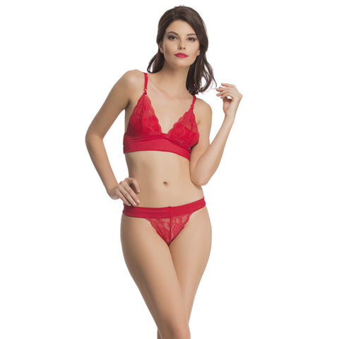 Bra & Panty Set In Red, , Bikini Clovia Thailand