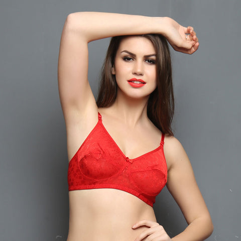 Chic Non-padded Wirefree Bra In Red, , Bra Clovia Thailand