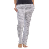 Cotton Full Length Printed Pyjama - White, , sleepwear Clovia Thailand