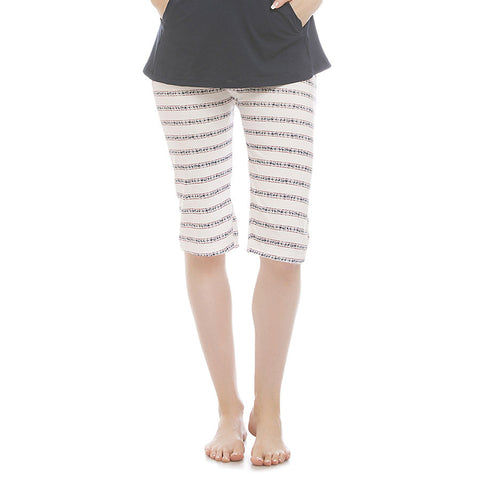 Cotton Yoga Capri - White, , Lounge Bottom Clovia Thailand