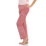 Cotton Pyjama With Floral Prints, S / Red, sleepwear Clovia Thailand