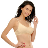 Cotton Non-Padded Moulded T-shirt Bra In Nude, 32B / Nude, Bra Clovia Thailand