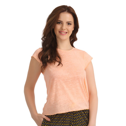 Cotton Top - Peach, , T-shirt Clovia Thailand