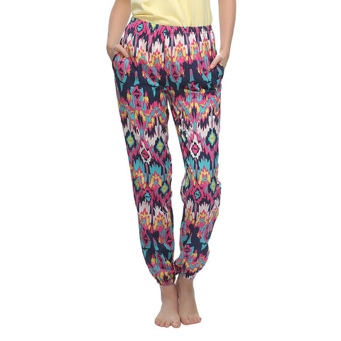 Crepe Printed Pyjama In Light Purple, , sleepwear Clovia Thailand