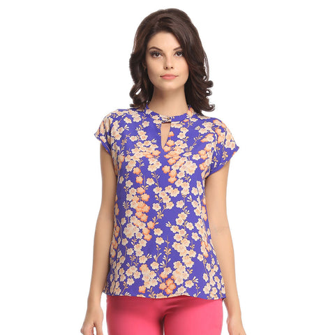 Crepe Printed Top
