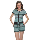 Funky Printed Jumpsuit In Green, , sleepwear Clovia Thailand