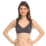 Grey cotton Bra, , Bra Clovia Thailand