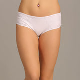 High Waist Hipster With Lace Wings - White, , Panty Clovia Thailand