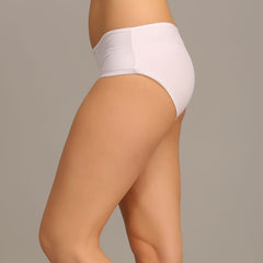High Waist Hipster With Lace Wings - White, S / White, Panty Clovia Thailand