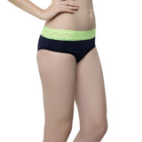 Cotton Spandex Hipster In Navy, S / Blue, Panty Clovia Thailand