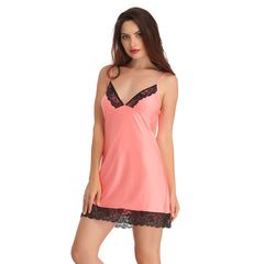 Lacy Babydoll In Orange, S / Orange, sleepwear Clovia Thailand