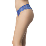 Lacy Powernet Panty In Royal Blue, L / Blue, Panty Clovia Thailand
