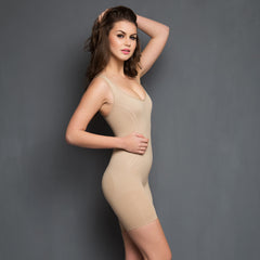 Laser-Cut No-Panty Lines High Compression Body Suit, L/XL / Nude, ShapeWear Clovia Thailand