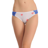 Mid waist Bikini With Lace Side Wings - White, , Panty Clovia Thailand