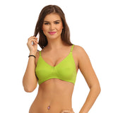 Cotton Non-Padded Wirefree Bra - Green, , Bra Clovia Thailand
