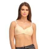 Non Padded Wirefree Cotton Bra In Beige, , Bra Clovia Thailand