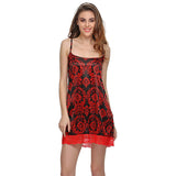 Black And Red Short Nightdress, , sleepwear Clovia Thailand