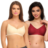 Pack Of 2 Cotton Backless Multiway Bra - Multicolor, , Bra Clovia Thailand