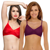 Pack Of 2 Cotton Rich Non-padded Wirefree T-shirt Bra, , Bra Clovia Thailand