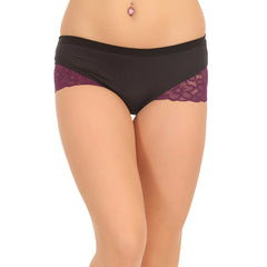 Pack Of 2 Mid Waist Hipster With Lace Wings, L / Multicolor, Panty Clovia Thailand